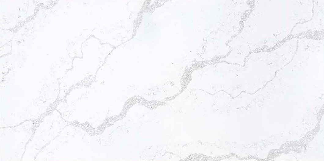 JH-CA101 Calacatta White Quartz Slab Surface 3