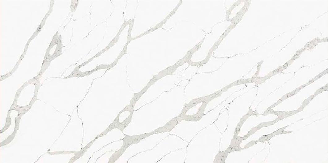 JH-CA103 Calacatta White Quartz Slab Surface 3