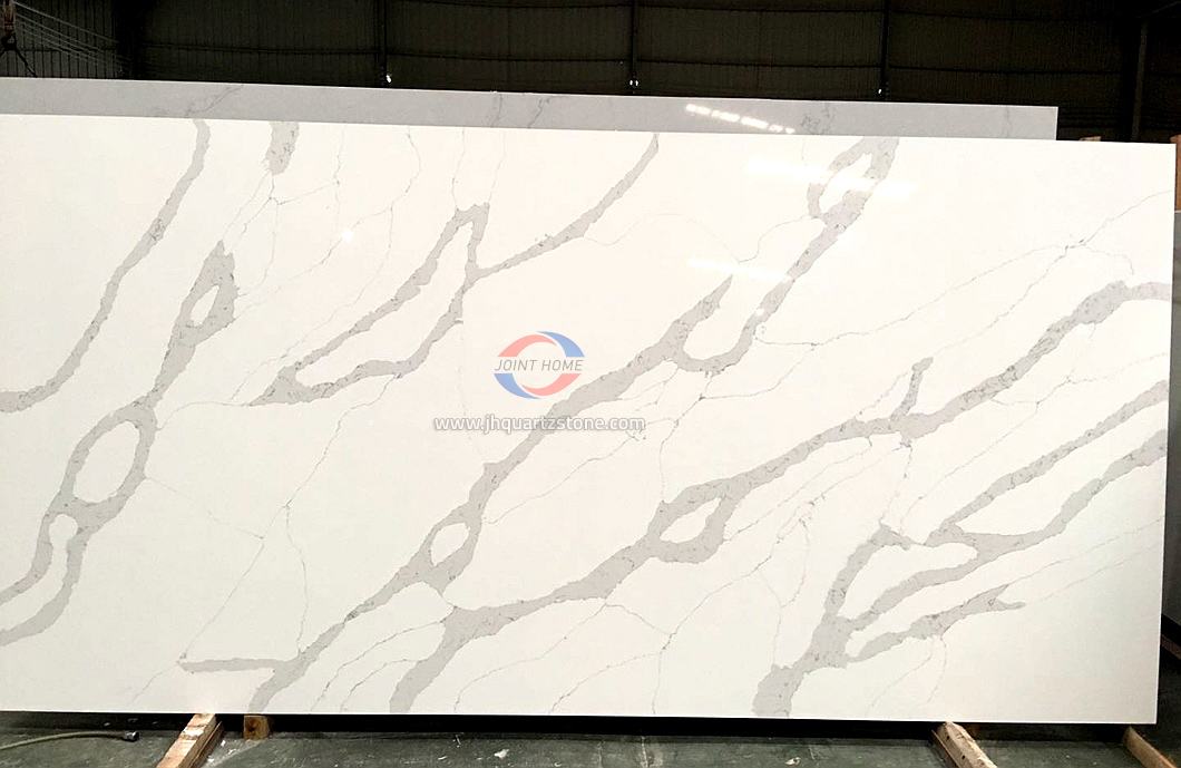 JH-CA103 Calacatta White Quartz Slab Surface 4