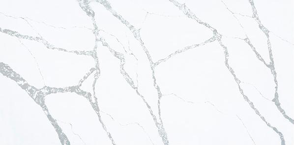 JH-CA111 Calacatta White Quartz Slab Surface 3