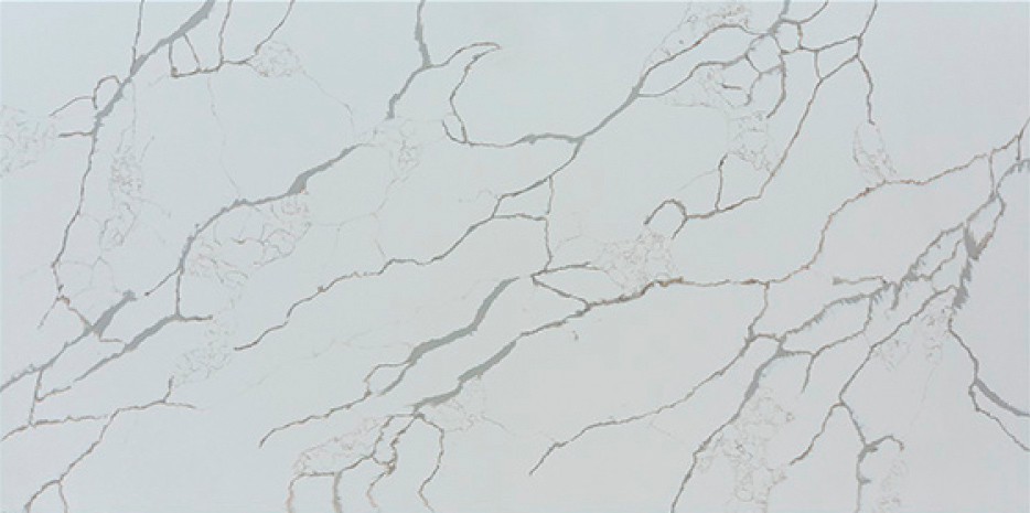 JH-CA116 Calacatta Venatto Calacatta White Quartz Slab Surface 3