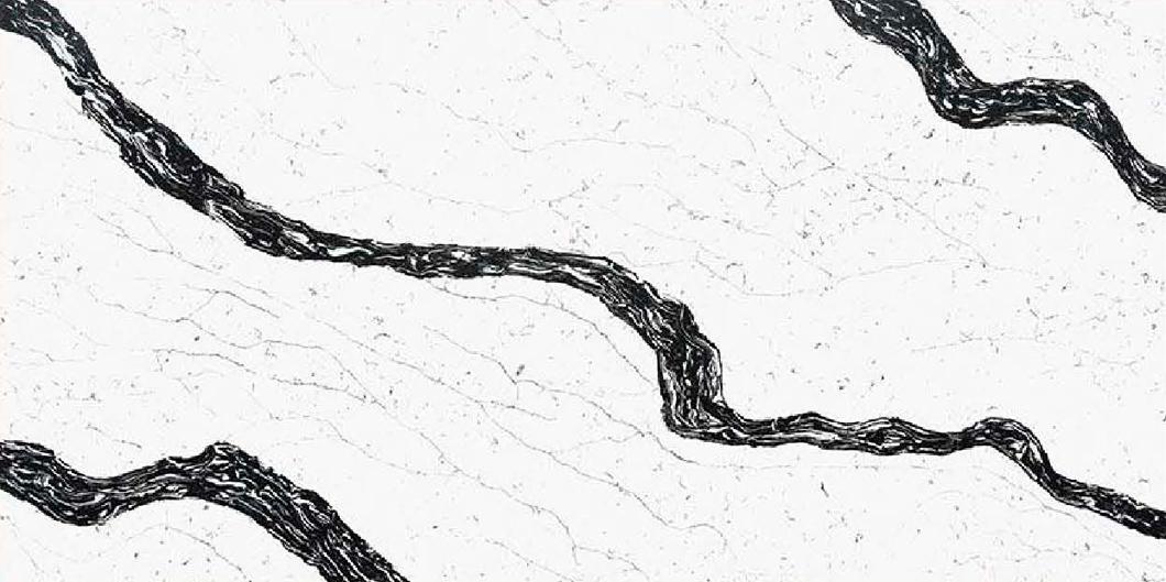JH-CA117 Calacatta White Quartz Slab Surface 3