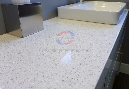 JH-CR004 Jade Spot White Quartz Slab Surface 2