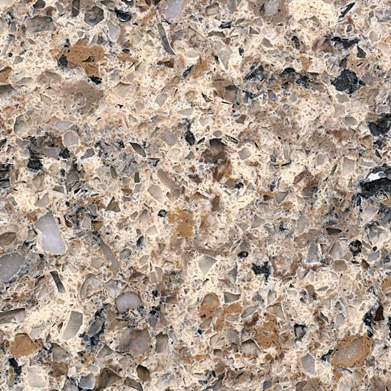 JH-MC007 Colorful Brown Quartz Slab Surface