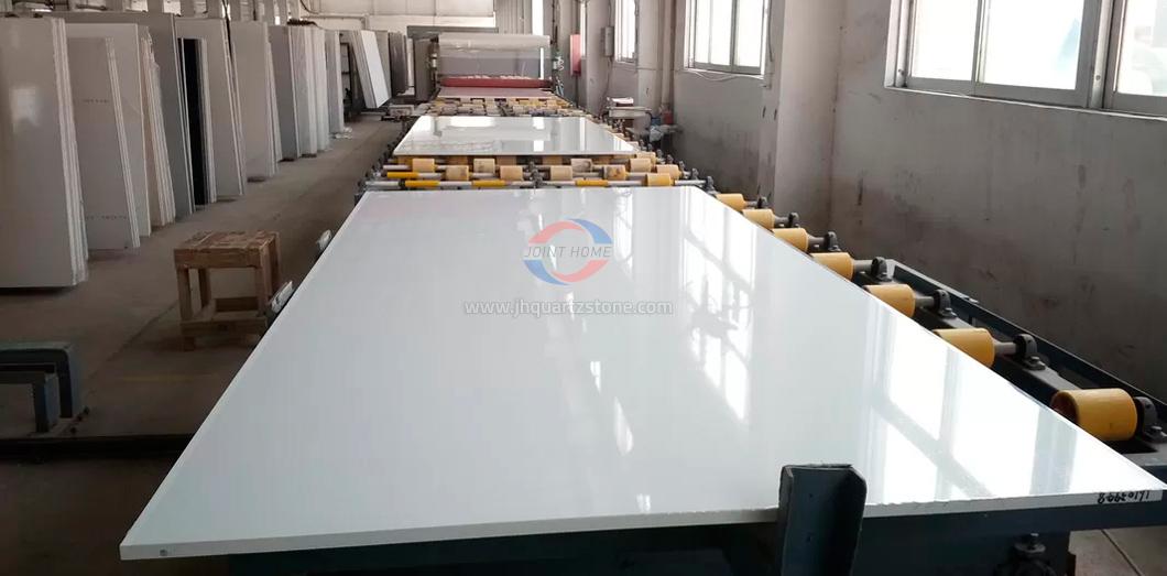 JH-PC001 Super White Quartz Slab Surface 4