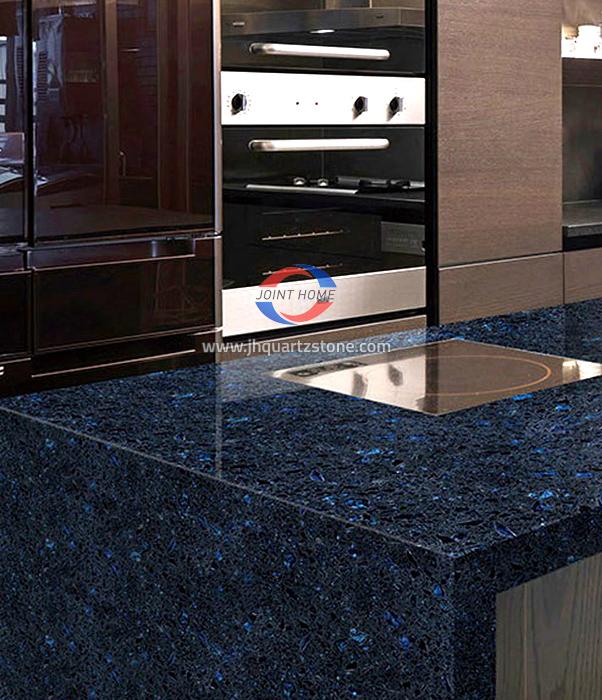 JH-SC007 Crystal Shining Blue Quartz Slab Surface 2