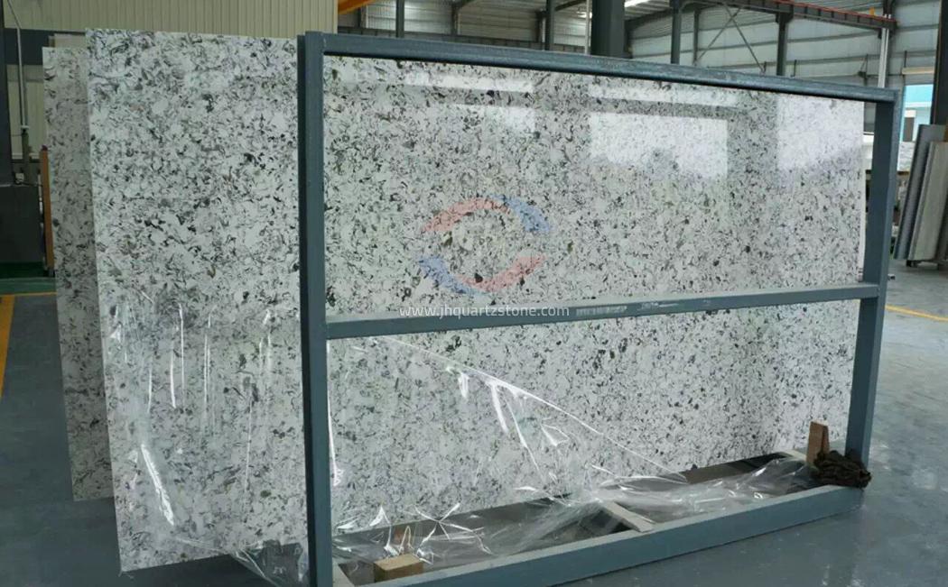 JH-VE018 Greed Land Quartz Slab Surface 4
