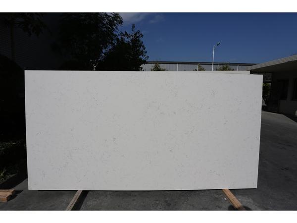 SGS Passed For Quartz Stone Calacatta White Kitchen Countertop 1
