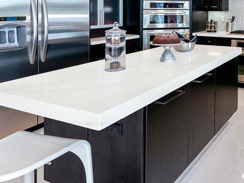 Calacatta White Quartz Countertops 3