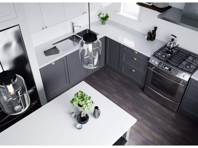 Chinese White Quartz Stone Kitchen Countertops Quartz Kitchen Countertops 1