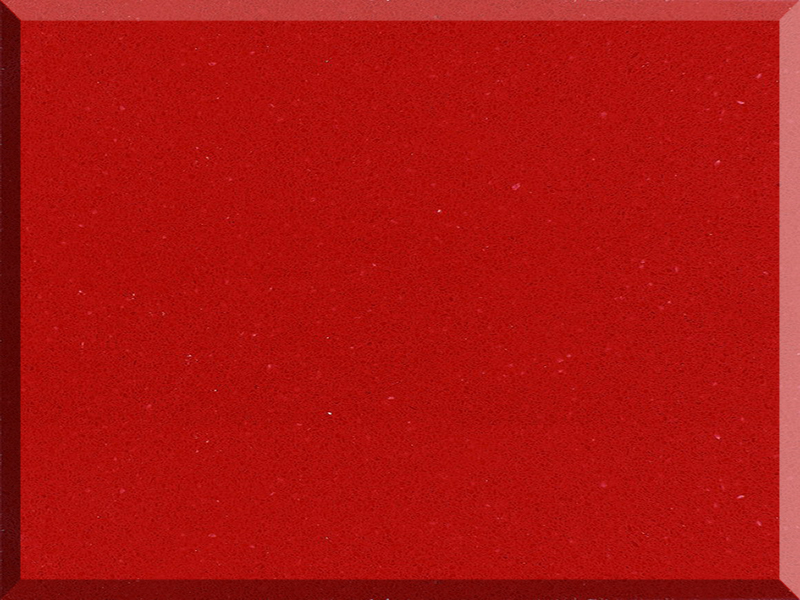 High Quality Chinese Red Pure Color Quartz Stone