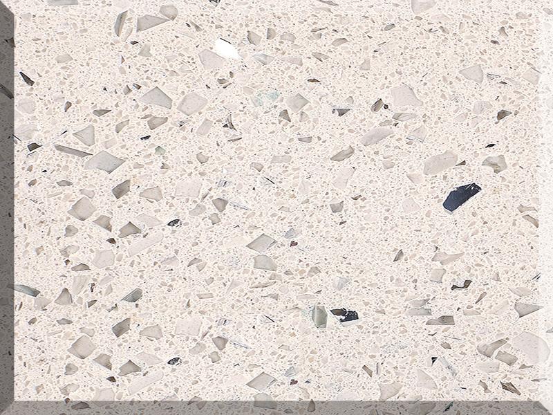 Caesarstone Crystal White Quartz Slabs