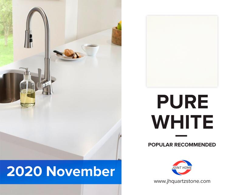 Pure White Color Quartz Surface (Quartz Stone Blog 2020 Nov. Report)