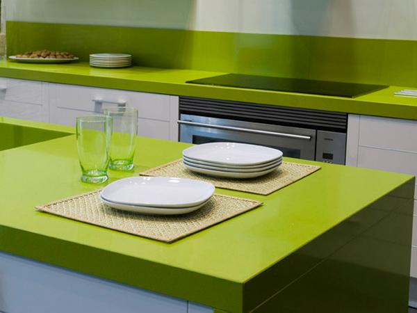 China Emerald Pure Green Quartzite Slab Factory 3