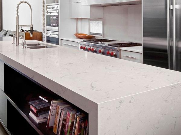 Calacatta Quartz Kitchen Countertops China Supplier