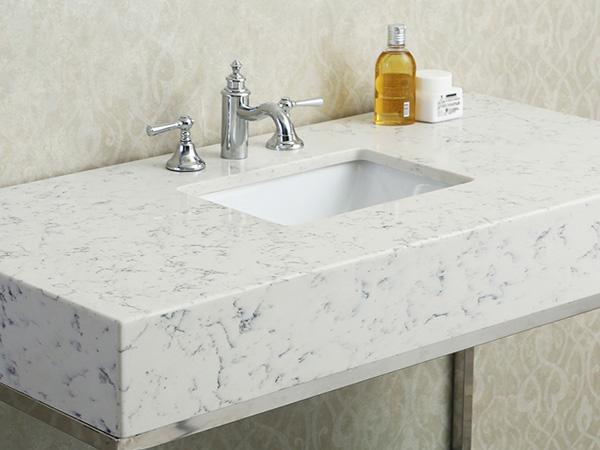 China Quartz Bathroom Vanity Countertops Factory