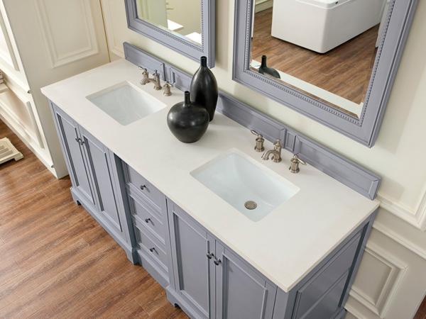 China White Quartz Bathroom Countertops Supplier