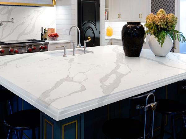 Sparkling White Quartz Countertops
