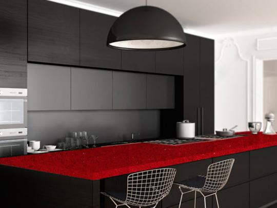Red Quartz Bathroom Countertops With Best Price