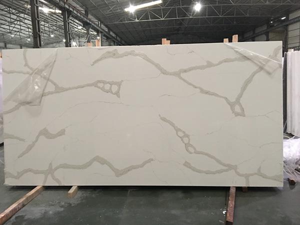 Ice White Quartz Slabs Includes Backsplash