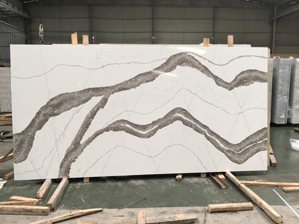Calacatta White Quartz Stone Slabs In China 1