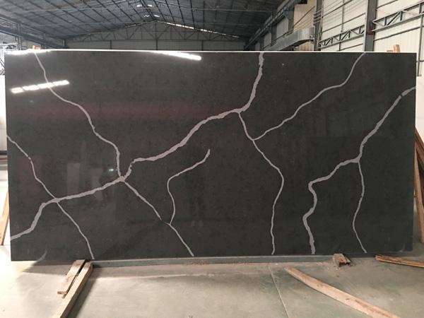 Black Calacatta Quartz Slabs Factory