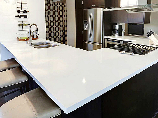 China Pure White Quartz Countertops Suppliers And Manufacturers