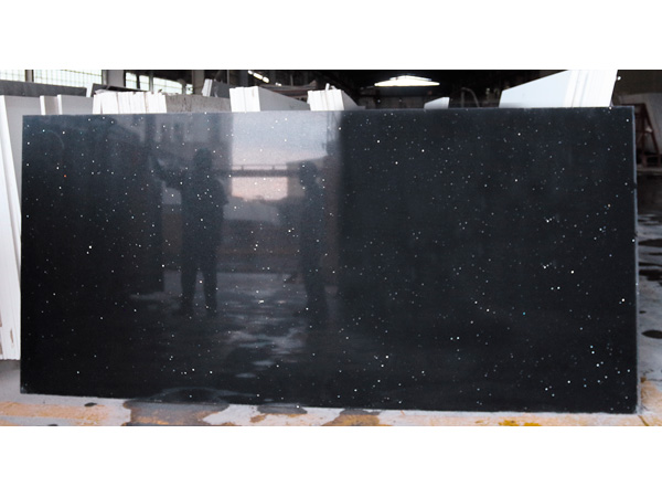 China Dark Black Color Quartz Slabs Suppliers And Manufacturers