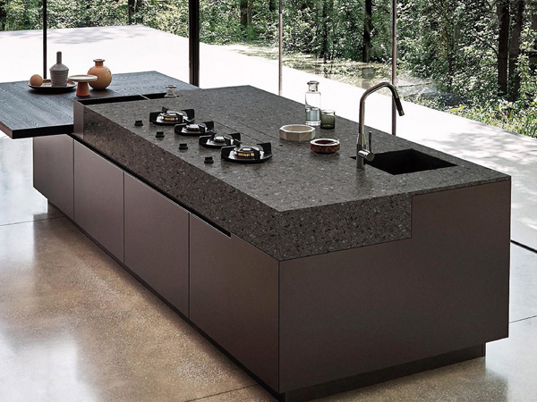 Crystal Shining Dark Grey Quartz Countertops With High Quality And Best Cheap Price