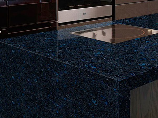 Crystal Shining Blue Quartz Countertops With High Quality And Best Cheap Price