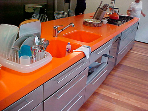 Pure Orange Quartz Countertops With High Quality And Best Cheap Price
