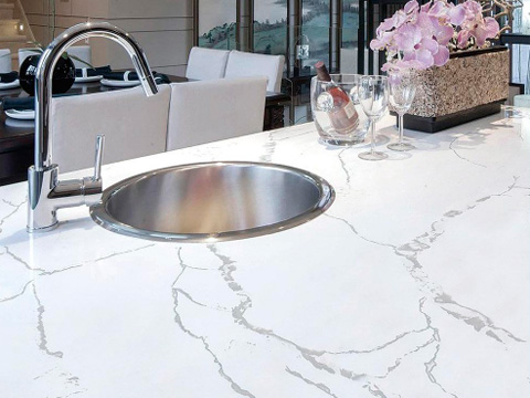 Calacatta Quartz Countertops With High Quality And Best Cheap Price