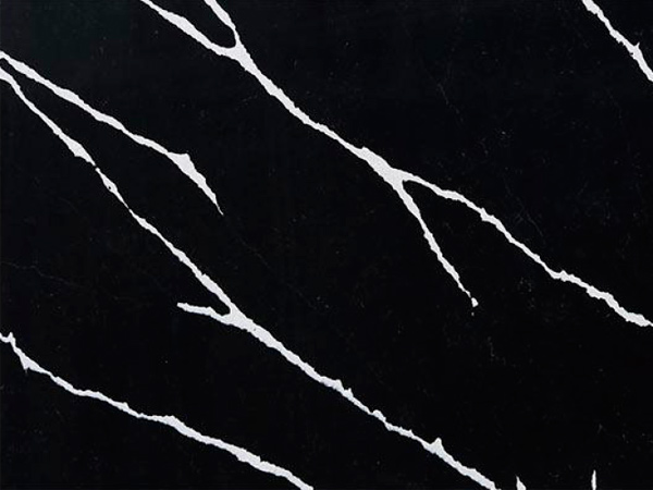 Calacatta Black Quartz Slabs With High Quality And Best Cheap Price