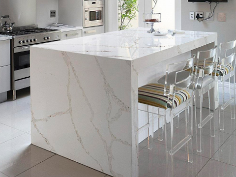 Calacatta White Quartz Countertops With High Quality And Best Cheap Price