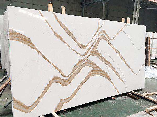 China Eternal Calacatta Gold Quartz Slabs Suppliers And Manufacturers 1