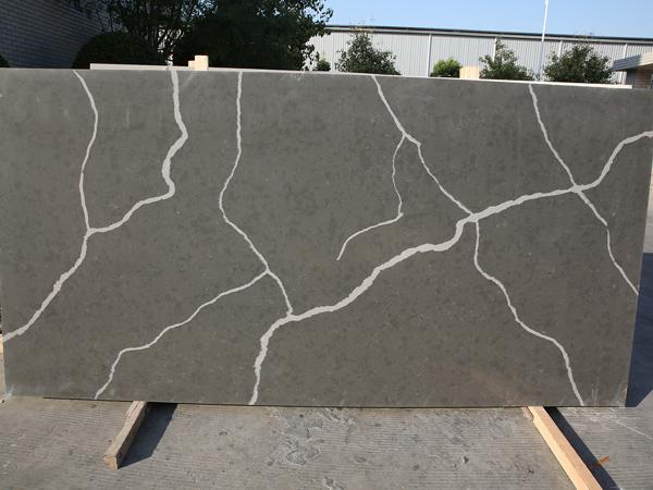 Calacatta Grey Quartz Stone With 12mm 15mm Jumbo Size Quartz Slabs