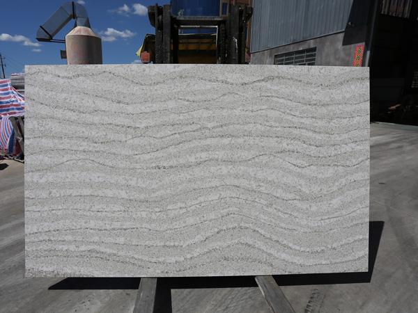 Calacatta Grey Quartz Stone Slab Engineered Artificial Tiles