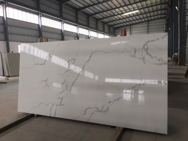 China Calacatta Lincoln Quartz Slabs Jumbo Size