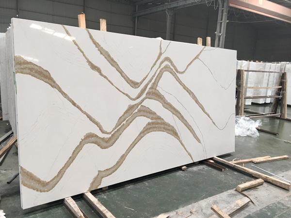 Silestone Eternal Calacatta Gold Suede Quartz Slabs For Countertops
