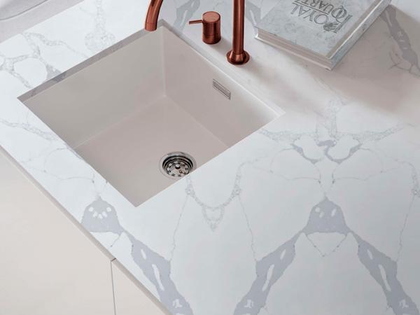 Calacatta Oro Carrara Black Quartz Vanity Worktops