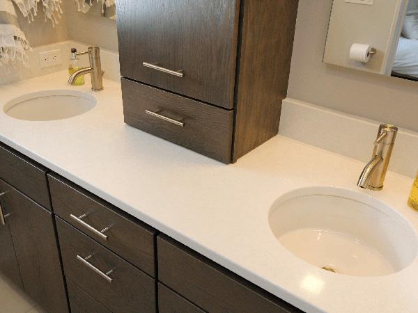 Quartz Engineered Stone Vanity Bathroom Countertops 1