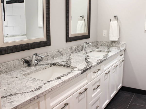 Crema Marfil Nero Marquina Quartz Vanity Bath Tops 1