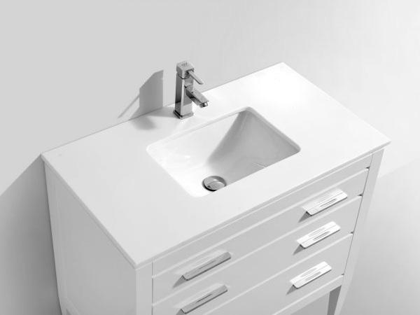 Travertino White Quartz Bathroom Vanity Bath Tops 1