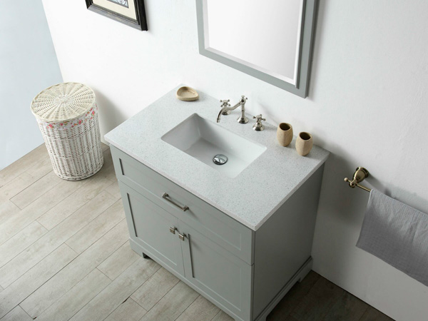 Charlotte White 60inch Royal Quartz Bathroom Vanity Tops