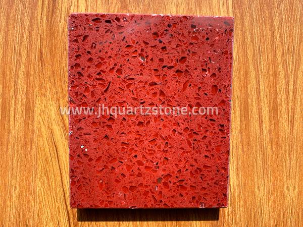 Crystal Red Aurora Rubini Quartz Stone Free Sample Slabs