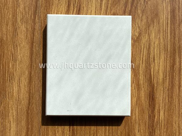 Free Sample Pure White Color Quartz Artificial Stone Slabs