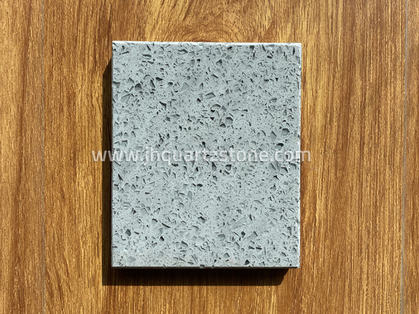 Crystal Gray Grey Color Quartz Slab Free Samples