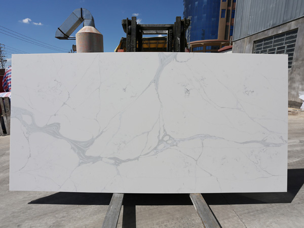 Calacatta Quartz Engineered Stone Slabs For Shower Trays