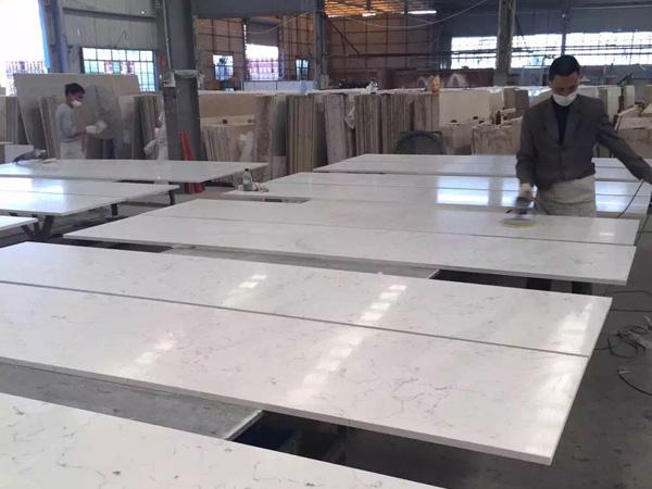 Stellar White Quartz Engineered Stone Slabs From China
