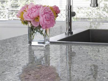 Crystal Shining Light Grey Gray Quartz Stone Countertops